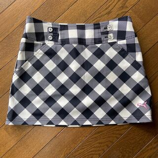 プーマ(PUMA)のPUMA 白✖️紺色 ゴルフスカート サイズM(ウエア)