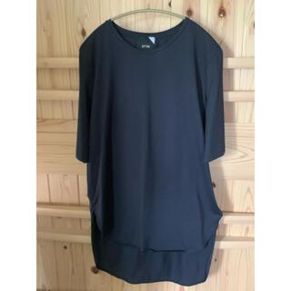 デミルクスビームス(Demi-Luxe BEAMS)のATON ネイビー ラウンドヘム Tシャツ エイトン カットソー (Tシャツ(半袖/袖なし))