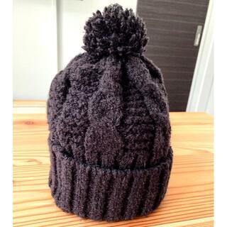 CA4LA - 【数回使用】CA4LA(カシラ)ニット帽 ボンボン付き 男女兼用 ニットキャップ