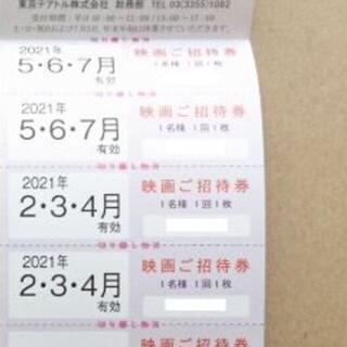 2枚 東京テアトル 映画ご招待券 株主優待 男性名義(その他)