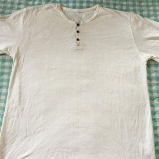 シマムラ(しまむら)のメンズボタンTシャツ 白(Tシャツ/カットソー(半袖/袖なし))