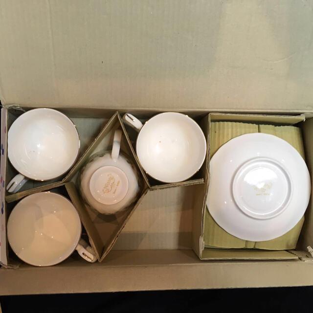 ニットー Nitto カップ&ソーサー 花柄 ティーカップ 4個セット インテリア/住まい/日用品のキッチン/食器(グラス/カップ)の商品写真