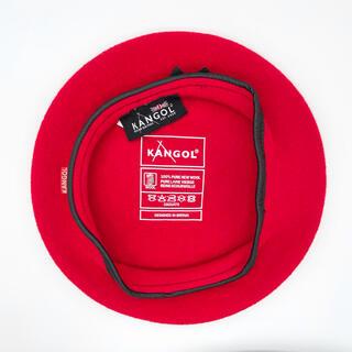 カンゴール(KANGOL)のKANGOL ベレー帽 レッド 赤 リボン(ハンチング/ベレー帽)