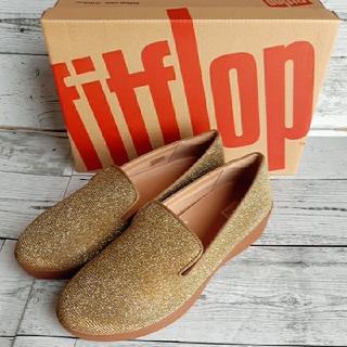 フィットフロップ(fitflop)の【新品】fit flop スリッポンスニーカーArtisan Gold23.5㎝(スニーカー)