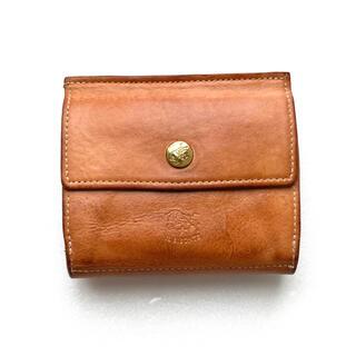 イルビゾンテ(IL BISONTE)のイルビゾンテ IL BISONTE コンパクト 三つ折り財布 ヌメ(財布)