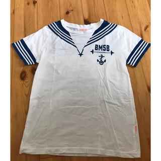 ビームスボーイ(BEAMS BOY)のビームス ボーイ T シャツ セーラー マリン 白 ブルー 140(Tシャツ/カットソー)