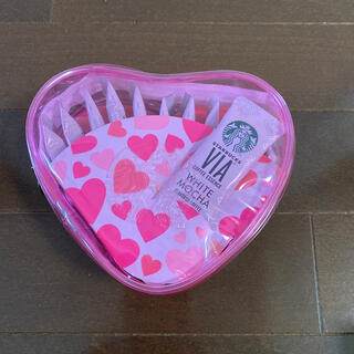 スターバックスコーヒー(Starbucks Coffee)のお値下げ不可 スターバックス スタバ バレンタイン ホワイトモカ ハートポーチ(コーヒー)