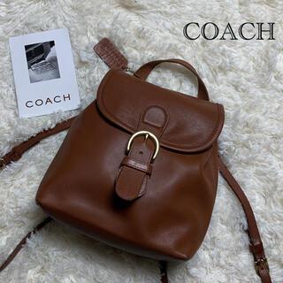 COACH - 【美品!】オールドコーチ ミニリュック ブラウン グラブタンレザー 金具