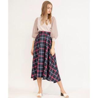 And Couture -  アンド クチュール タフタチェックフレアスカート