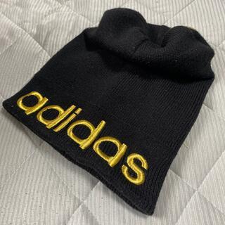 アディダス(adidas)のadidas 金黒ニットキャップ (ニット帽/ビーニー)