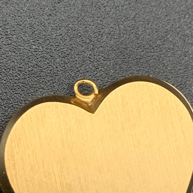 K18 ペンダント ハート型 ジャンク レディースのアクセサリー(ネックレス)の商品写真