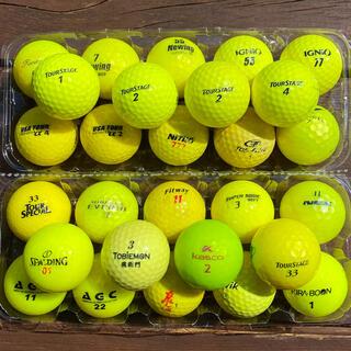 ゴルフボール GOLF ロストボール 黄色 イエロー 28個セット(その他)