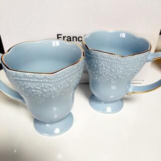 Francfranc - フランフラン マグカップ ヴォワールマグ ペア ライトブルー