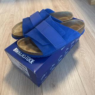 ビルケンシュトック(BIRKENSTOCK)のBIRKENSTOCK KYOTOサンダル ブルー 37サイズ(サンダル)