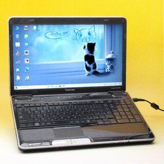 東芝 - 特価 東芝 ノートパソコン 訳あり ブルーレイ 美品ブラック Windows10