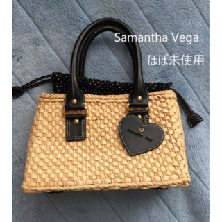 サマンサベガ(Samantha Vega)のSamastha Vega かごバック 【美品】大人かわいい(ハンドバッグ)