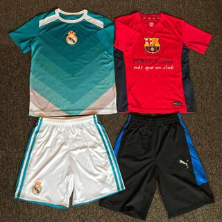 adidas - ジュニア150 サッカー Tシャツ 短パン レアルマドリード  バルセロナ