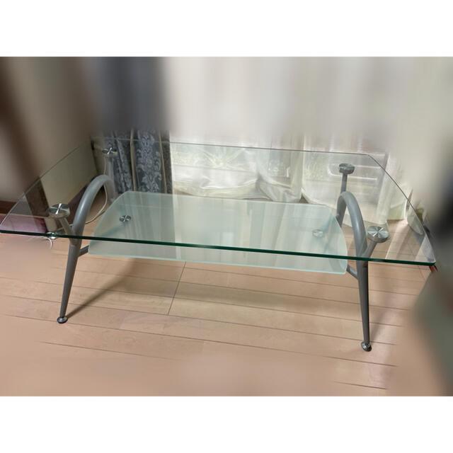 ニトリ(ニトリ)のガラステーブル 引き取り希望 今だけ2000円! インテリア/住まい/日用品の机/テーブル(ローテーブル)の商品写真