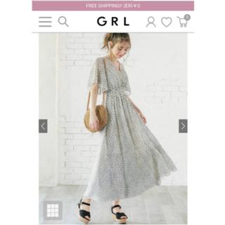 GRL - 【GRL】フレアスリーブダルメシアン柄カシュクールワンピース[ac1470]