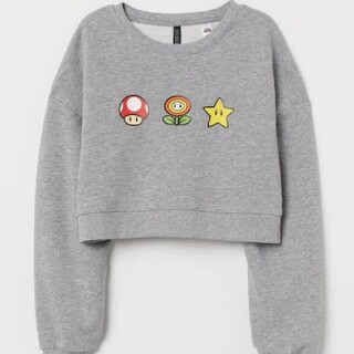 H&M - 【新品タグ付】H&M×Super Mario コラボのスウェットトレーナー