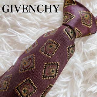 ジバンシィ(GIVENCHY)の極美品 ジバンシー ネクタイ ペイズリー柄 ロゴ ビジネス 総柄 イタリア製(ネクタイ)