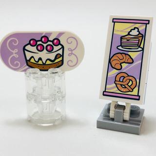 レゴ(Lego)の【新品未使用】レゴ LEGO プリントタイル ケーキ スイーツ 看板(知育玩具)