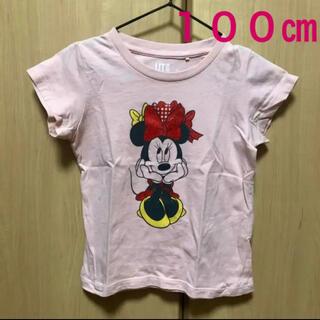 ユニクロ(UNIQLO)のユニクロ ミニー Tシャツ 100㎝ キラキラ ラメ(Tシャツ/カットソー)