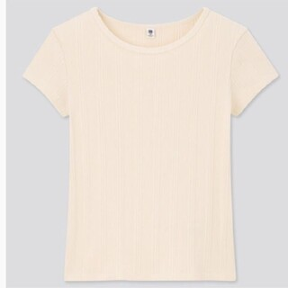 ユニクロ(UNIQLO)のリブTシャツ 120cm(Tシャツ/カットソー)