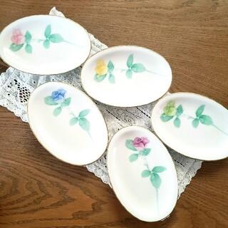 香蘭社 - 香蘭社 ローズガーデン 皿 楕円皿 オーバル 5枚 新品