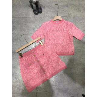 CHANEL - CHANEL シャネル ミニスカート ピンク セットアップ可 二点セット