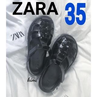 ZARA - ZARA (35) フラットケージサンダル