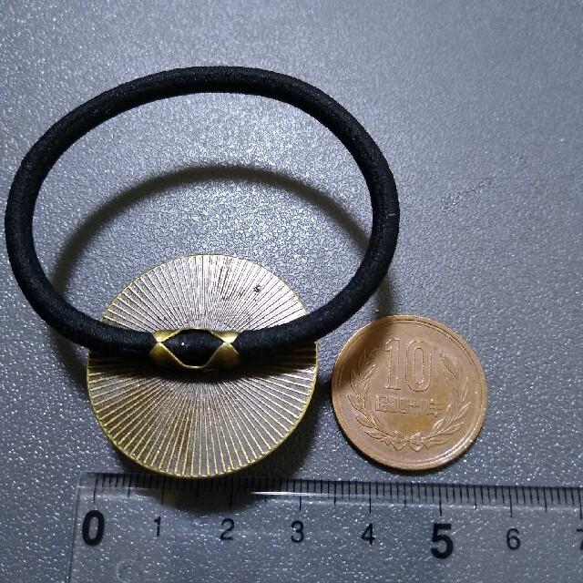 3センチ ヘアゴム シルバー ハンドメイドのアクセサリー(ヘアアクセサリー)の商品写真