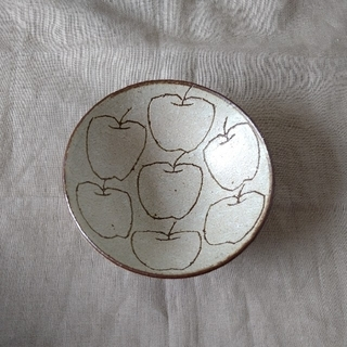 楠田純子さん 林檎文  ちびりんご 五寸鉢 新品未使用 林檎鉢 りんご皿