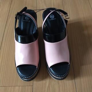 ジーユー(GU)のウエッジサンダル  GU×UNDERCOVER  ピンク  XL(サンダル)