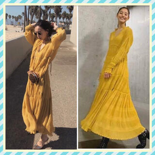 Ameri VINTAGE - AMERI💛SHIRRING PLEATS DRESS 新木優子