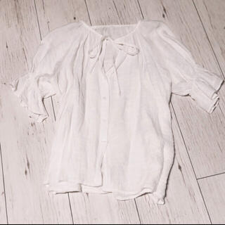 アンティローザ(Auntie Rosa)のシースルー キャンディスリーブブラウス(シャツ/ブラウス(半袖/袖なし))