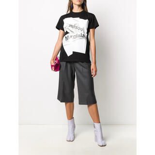マルタンマルジェラ(Maison Martin Margiela)の新作 メゾンマルジェラ Tシャツ ブラック S(Tシャツ(半袖/袖なし))