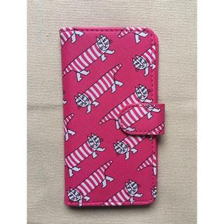 リサラーソン(Lisa Larson)の【新品未使用】リサラーソン マイキー 携帯ケース 手帳型 ブック型 スライド式(iPhoneケース)