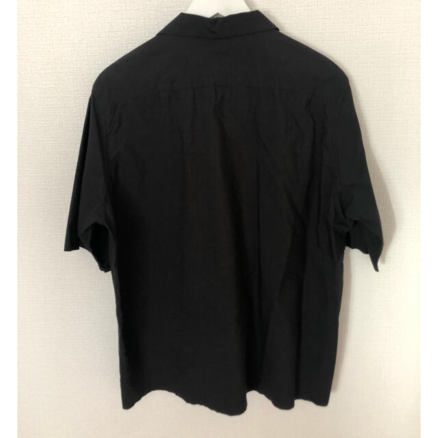 COMOLI(コモリ)のAURALEE 17ss オープンカラー半袖シャツ インクブラック サイズ4 メンズのトップス(シャツ)の商品写真