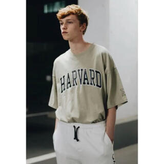 """BEAUTY&YOUTH UNITED ARROWS - """"HARVARD×monkey time"""" college OVERSIZE T"""