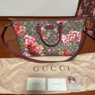 グッチ(Gucci)の【新品同様】グッチ GGスプリーム ブルームス 2wayバッグ ピンク(ハンドバッグ)