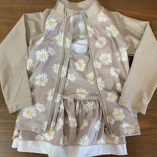 シマムラ(しまむら)の女の子 水着セット 90㎝ 花柄 ラッシュガード(水着)