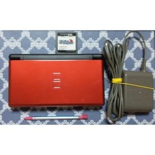 ニンテンドーDS(ニンテンドーDS)のDSライトレッドブラック&ソフト&充電器セット(携帯用ゲーム機本体)