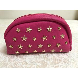 シマムラ(しまむら)のしまむら 星 スター スタッズ ポーチ ピンク ドーム型 かまぼこ型(ポーチ)