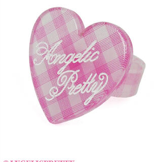 アンジェリックプリティー(Angelic Pretty)のLovelyギンガムリング angelic pretty  ピンク(リング(指輪))