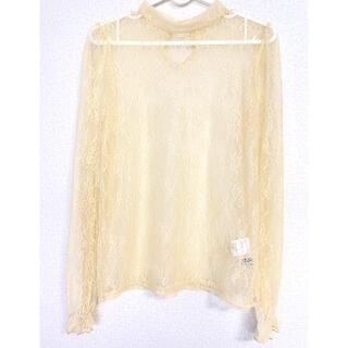 セシルマクビー(CECIL McBEE)の[超美品]レースカットソー 長袖 薄ら黄色(カットソー(長袖/七分))