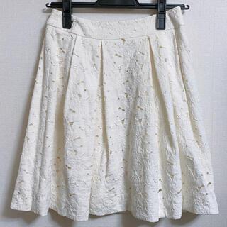 アベニールエトワール(Aveniretoile)の新品♡アベニールエトワール♡ レース ふんわりスカート オフホワイト 36サイズ(ひざ丈スカート)