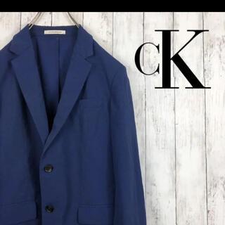 シーケーカルバンクライン(ck Calvin Klein)のCK カルバンクライン サマージャケット テーラードジャケット 紺 夏(テーラードジャケット)