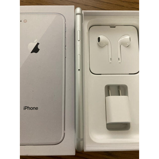 iPhone(アイフォーン)のiPhone 8 Silver 64 GB SIMフリー スマホ/家電/カメラのスマートフォン/携帯電話(スマートフォン本体)の商品写真