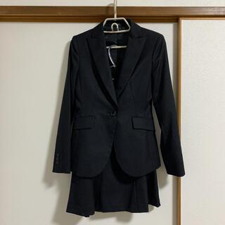 コムサイズム(COMME CA ISM)のレディース スーツ 上下 ブラック ストライプ(スーツ)